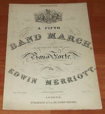 Victorian Sheet Music..a Fifth Band March.