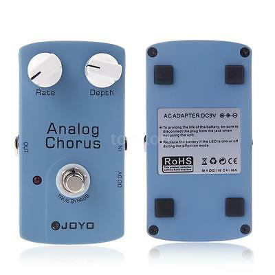 JOYO ANALOG CHORUS Electric Guitar Effect Pedal with True Bypass Blue T7T2