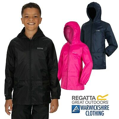 Regatta Navy Blue Kids Stormbreak Lightweight Waterproof Jacket Unisex Boys Girl