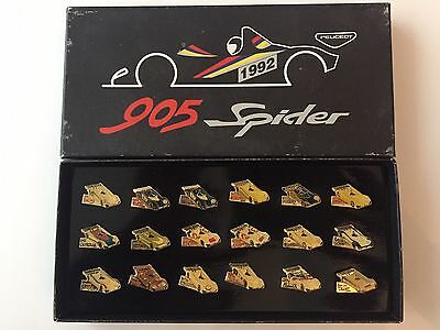 PEUGEOT 905 Spyder Cup 1992 Coffret Collector 18 Pin's