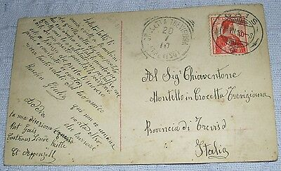 Used Post Card from Switzerland to Italy.1910.