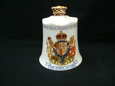 Aynsley China hand bell commemorating Queen Mother 95th Birthday 1995