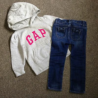 Gap Girls Outfit Jeans And Hoody Size 3 Years