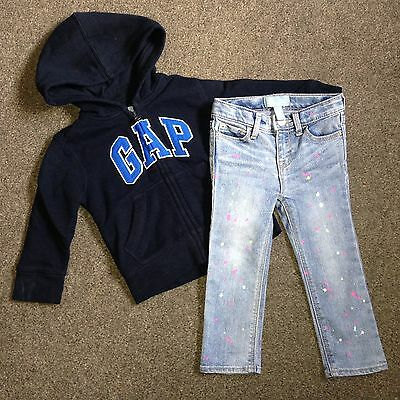 Gap Girls Outfit Jeans And Hoody Size 2 Years