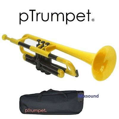 Ptrumpet New 2016 Tromba Sib In Plastica Abs Color Giallo + Custodia  Bocchino