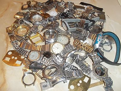 Large Job Lot of Old Watch Parts