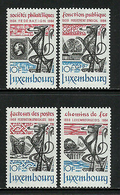 Luxembourg #703-6 Mint Never Hinged Set - Organizations