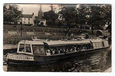 Vintage RP postcard River Boat Water Ouzel on The Oxford Canal. Circa 1950s?