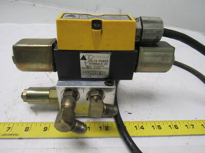 Delta Power Hydraulic 850040FH Solenoid Operated Directional Valve W/Subplate