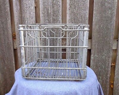 Marigold R-64 Milk Wire Steel Crate Basket Carrier Dairy Vintage
