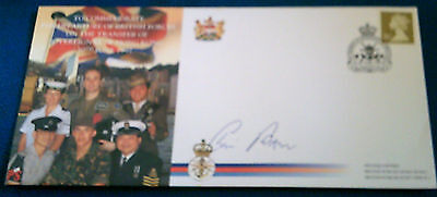 Sir Chris Patton,autographed 1St Day Cover,1997 Transfer Of Hong Kong