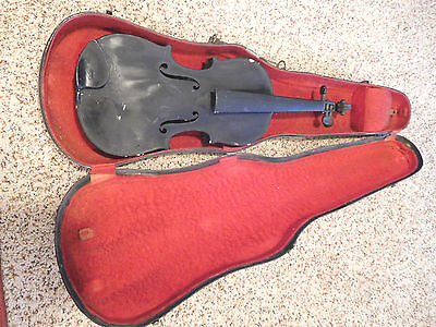 Antique 3/4 Violin  w/Case 4-Restore