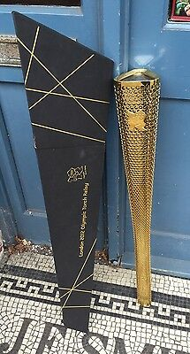 Official Genuine London 2012 Olympic Torch Original Full Size Item Used In Relay