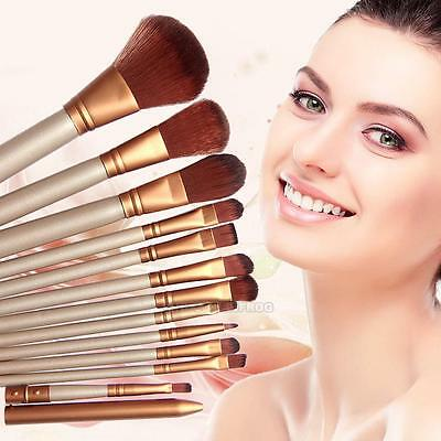 12Pcs Kabuki Professional Make Up Brushes Makeup Foundation Blusher Powder Lot