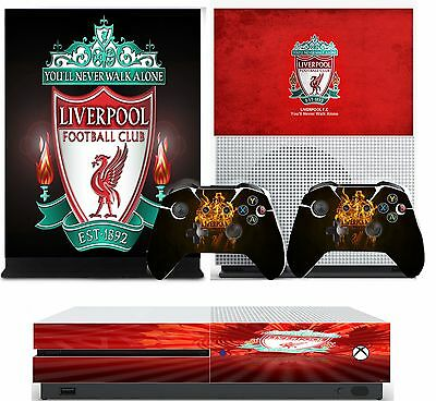 LIVERPOOL FC xbox one S skins decals stickers  + 2 controllers game
