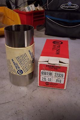 """New Precision Brand 22L-10 Stainless Steel Shim Gage .010 6"""" Wide 50"""" Long"""