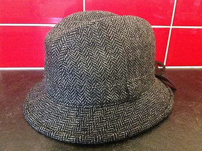 BNWT M&S Yorkshire Tweed trilby hat in grey size Small