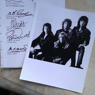 The Sweet Promo Press photo and copy signatures from 1989 REUNION