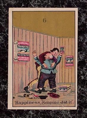 Men Hug to Celebrate Soapine Did It Kendall Victorian Trade Card Providence RI
