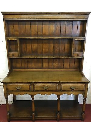 Titchmarsh & Goodwin English Oak Dresser & Rack