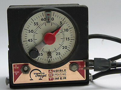 Omega M-59 ITC Timer Darkroom Safelight & Enlarger Repeating - Tested - USED S5