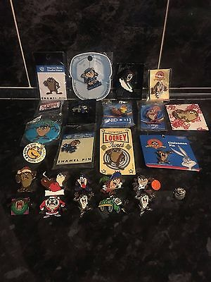 Taz Job Lot Of Pins Collectable Vintage And*** Rare***