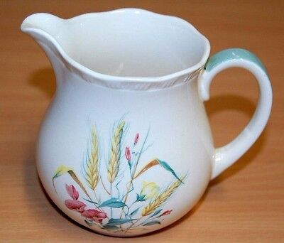 ALFRED MEAKIN small milk jug, wheat & poppies decoration W/V
