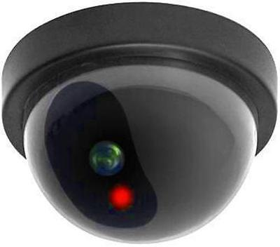 Dome Security Camera Dummy Fake Surveillance Flashing LED Light Home Business