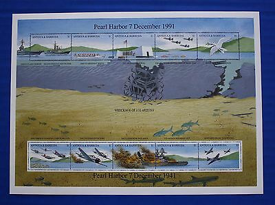Antigua & Barbuda (#1488) 1991 WWII: Pearl Harbor MNH sheet