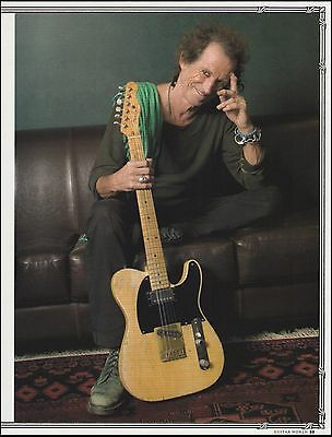 Rolling Stones Keith Richards Fender Telecaster guitar 8 x 11 pinup photo print