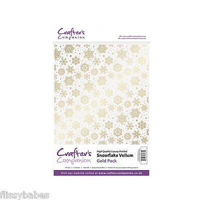 Crafters Companion Luxury Gold & Silver Snowflake Vellum & Printed Acetate