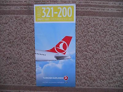 Turkish Airlines Airbus A321 200 Airline Safety Card