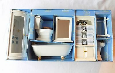 Hickleton Dolls House Bathroom Suite,shower E.c.t. New.boxed.1:12 Scale.