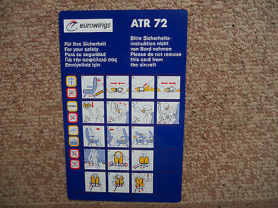 Eurowings ATR 72 Airline Safety Card
