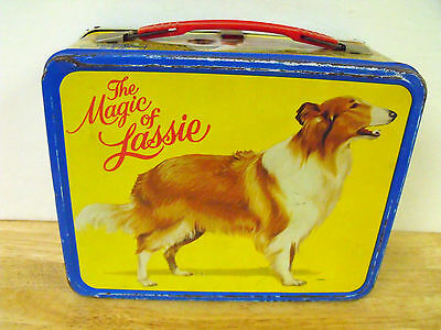 Vintage Metal Lunch Box Thermos King Seeley The Magic Of Lassie Tv Show 1978