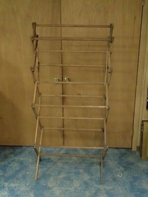 clothes drying rack wooden arms antique clothes drying rack anchor brand wringers 10000 picclick