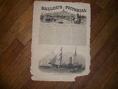 Ballou's Pictorial Newspaper, Boston, October, 1857