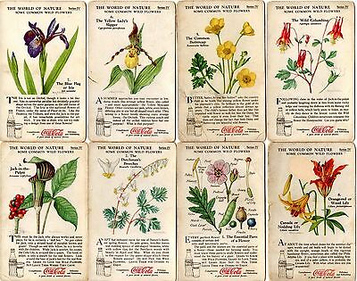 Coke Coca Cola World of Nature Wild Flowers Trading Cards Series III/IV
