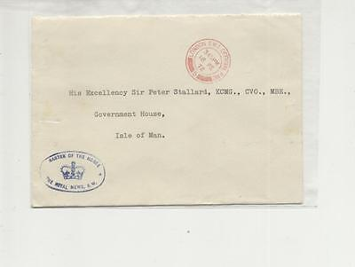 1972 Embossed & cacheted Master of The Horse,Royal Mews envelope to Isle of Man