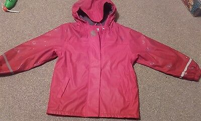 girls red raincoat age 6-8 years