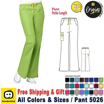 WonderWink Women's ( PETITE LENGTH XXS-5X) Medical Scrub Uniform Bottoms Pants