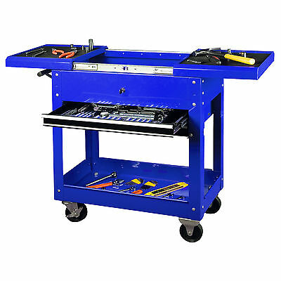 Tool Chest Blue Tool Cart Workstation Tool Storage Trolley  Rolling Tool Box