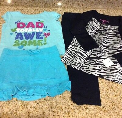 Lot Of 2 Infant Toddler Girl Outfits-Skirt Pants-Jumping Beans-24 Months-Nwt