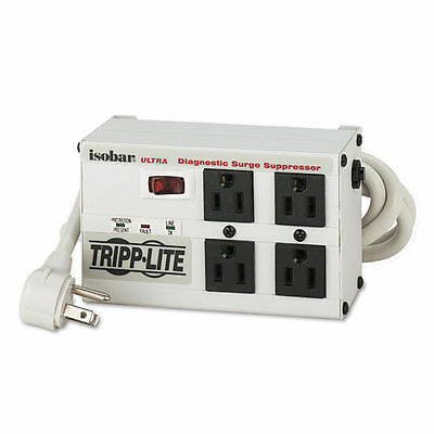 Tripp Lite Isobar 4 Outlet Surge Protector Power Strip, 6ft Cord Right Angle New