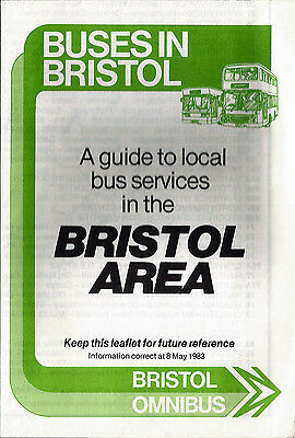Bristol Omnibus Co. Ltd. (NBC) Buses in Bristol route map guide - May 1983