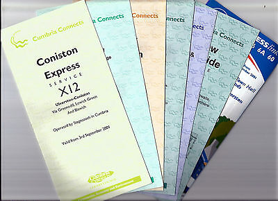 Cumbria County Council/Stagecoach Timetable leaflets  - 2001