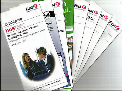 First Eastern Counties Timetable leaflets - 2000-02
