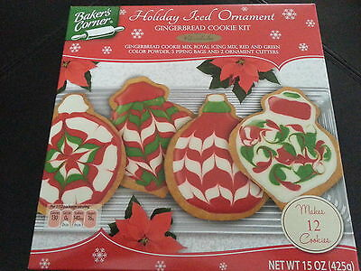 Gingerbread Christmas Ornament Iced Cookie Cutter Kit