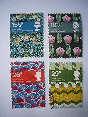 Britsh Textiles fine used set from 1982