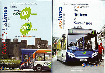 Stagecoach in South Wales Caerphilly & Torfaen Timetable booklets - 2010/11